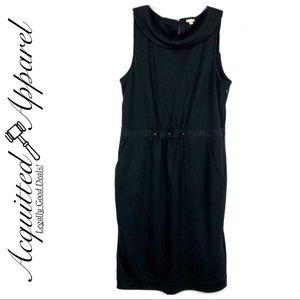 J Crew Black Wool Carrie Pocket Dress Portrait